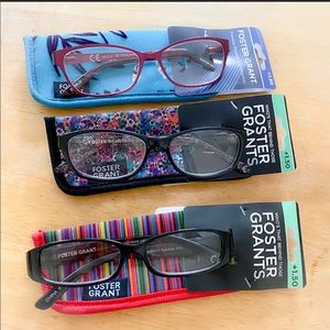 Foster Grant 3pack Reading glasses +1.50 NWT